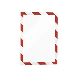 Magnetrahmen SECURITY A4 selbstklebend rot/weiß magnetisch Durable 4944-132 (PACK=2 STÜCK) Produktbild