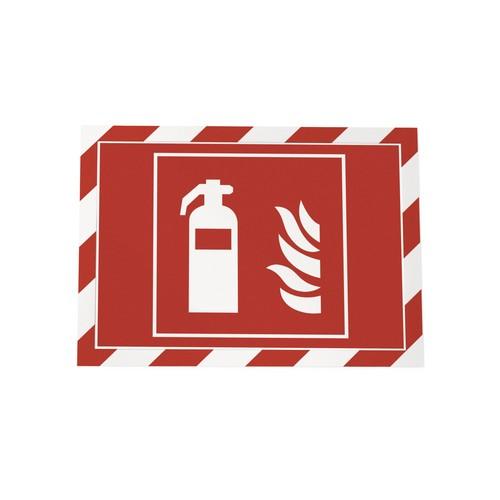 Magnetrahmen SECURITY A4 selbstklebend rot/weiß magnetisch Durable 4944-132 (PACK=2 STÜCK) Produktbild Additional View 1 L