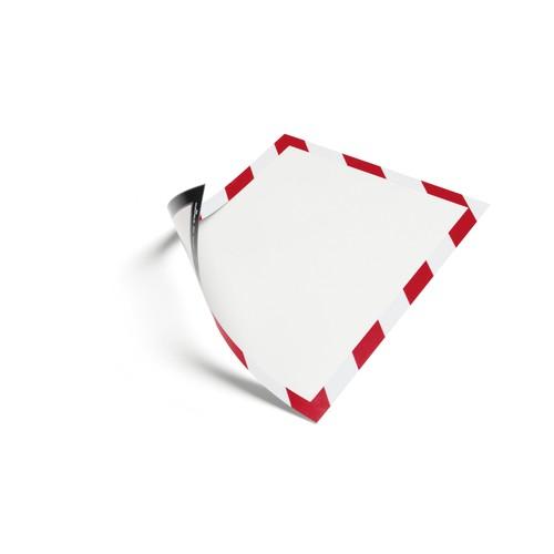 Magnetrahmen MAGNETIC SECURITY A4 rot/weiß magnetisch Durable 4945-132 (PACK=5 STÜCK) Produktbild