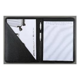 Schreibmappe A4 schwarz Lederimitat Alassio 30099 Produktbild