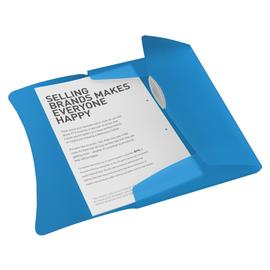 Dokumentenmappe Vivida mit 3 Klappen A4 für 150Blatt transparent blau PP Esselte 624040 Produktbild