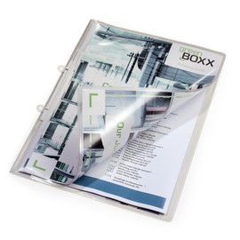 Schnellhefter A4 für gelochtes und ungelochtes Schriftgut aus Weichfolie transparent Durable 2512-19 Produktbild