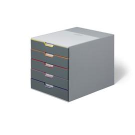 Schubladenbox Varicolor 5 Schübe 292x356x280mm grau Durable 7605-27 Produktbild
