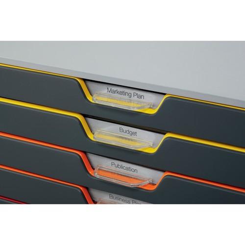 Schubladenbox Varicolor 10 Schübe 292x356x280mm grau Durable 7610-27 Produktbild Additional View 3 L