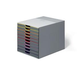 Schubladenbox Varicolor 10 Schübe 292x356x280mm grau Durable 7610-27 Produktbild