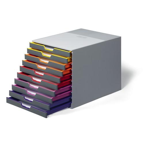 Schubladenbox Varicolor 10 Schübe 292x356x280mm grau Durable 7610-27 Produktbild Additional View 1 L