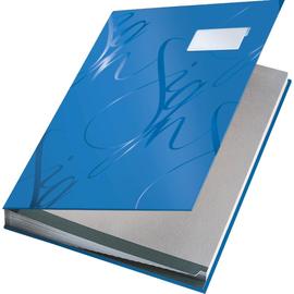 Unterschriftsmappe Design 18 Fächer A4 blau Karton Leitz 5745-00-35 Produktbild