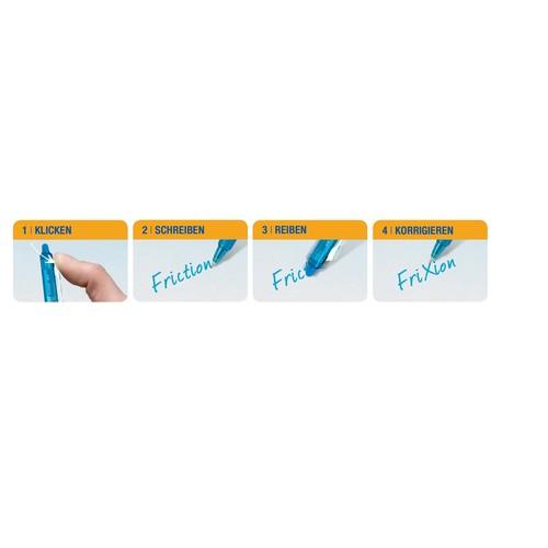 Tintenroller mit Radierspitze Frixion grün Ball Clicker mit Clip BLRT-FR7 0,4mm Pilot 2270004 Produktbild Additional View 1 L