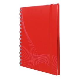 Spiralnotizbuch A5 kariert 90Blatt rot Kunststoff Zweckform 7031 Produktbild