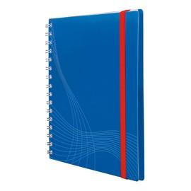 Spiralnotizbuch A5 kariert 90Blatt blau Kunststoff Zweckform 7033 Produktbild