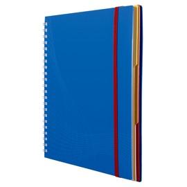 Spiralnotizbuch A4 kariert 90Blatt blau Kunststoff Zweckform 7037 Produktbild