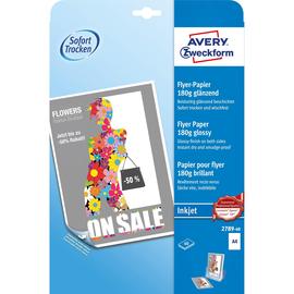 Flyer-Papier Inkjet A4 210x297mm 180g weiß Zweckform 2789-40 (PACK=40 BLATT) Produktbild