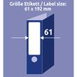 Rückenschilder zum Bedrucken 61x192mm kurz breit auf A4 Bögen recycling weiß selbstklebend Zweckform LR4761-25 (PACK=120 STÜCK) Produktbild Additional View 5 S