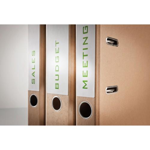 Rückenschilder zum Bedrucken 61x192mm kurz breit auf A4 Bögen recycling weiß selbstklebend Zweckform LR4761-25 (PACK=120 STÜCK) Produktbild Additional View 8 L