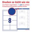 Etiketten Inkjet+Laser+Kopier 97x67,7mm auf A4 Bögen weiß Zweckform 3660-200 (PACK=1760 STÜCK) Produktbild Additional View 3 S