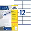 Etiketten Inkjet+Laser+Kopier 105x48mm auf A4 Bögen weiß Zweckform 3424-200 (PACK=2640 STÜCK) Produktbild