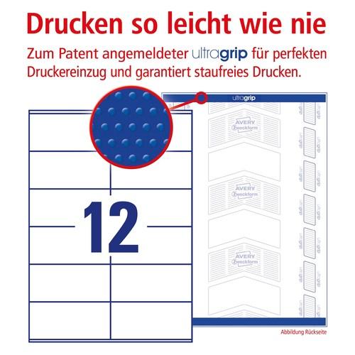 Etiketten Inkjet+Laser+Kopier 105x48mm auf A4 Bögen weiß Zweckform 3424-200 (PACK=2640 STÜCK) Produktbild Additional View 3 L