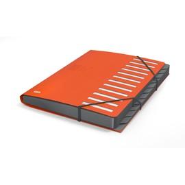 Ordnungsmappe Business mit Gummizug A4 mit 12 Fächern orange PP Elba 400033686 Produktbild
