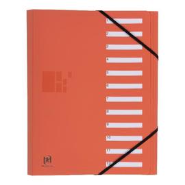 Ordnungsmappe Oxford for Business A4 mit 12 Fächern und Gummizug orange PP 400033686 Produktbild