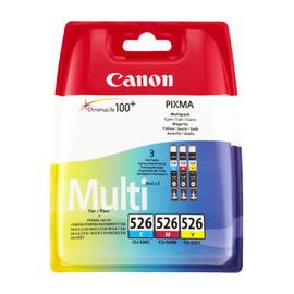 Tintenpatrone CLI-526 Multipack je 9ml cyan/magenta/yellow Canon 4541b009 (PACK=3 STÜCK) Produktbild