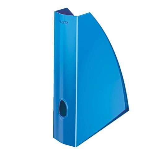 Stehsammler WOW 75x312x258mm blau metallic Kunststoff Leitz 5277-10-36 Produktbild Front View L