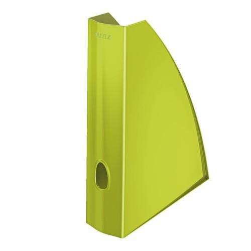 Stehsammler WOW 75x312x258mm grün metallic Kunststoff Leitz 5277-10-64 Produktbild Front View L