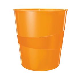 Papierkorb WOW 15l orange metallic Leitz 5278-10-44 Produktbild