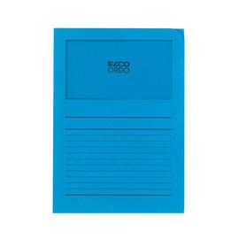 Sichtmappe Ordo 220x310mm Papier intensiv blau mit Sichtfenster Elco 29489.32 Produktbild