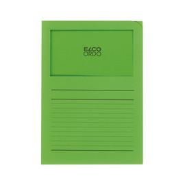 Sichtmappe Ordo 220x310mm Papier intensiv grün mit Sichtfenster Elco 29489.62 Produktbild