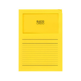 Sichtmappe Ordo 220x310mm Papier intensiv gelb mit Sichtfenster Elco 29489.72 Produktbild