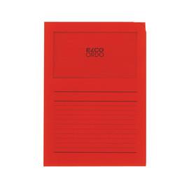 Sichtmappe Ordo 220x310mm Papier intensiv rot mit Sichtfenster Elco 29489.92 Produktbild