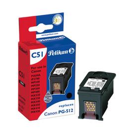 Tintenpatrone Gr. 1511 (PG-512) für Pixma IP2700/MP240/MX420 mit Chip 16ml schwarz pigment Pelikan 4105721 Produktbild