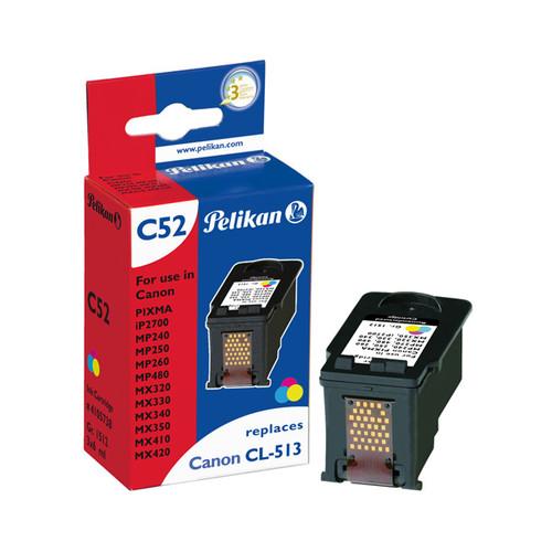Tintenpatrone Gr. 1512 (CL-513) für Pixma IP2700/MP240/MX420 mit Chip 3x6ml tricolor Pelikan 4105738 Produktbild Front View L