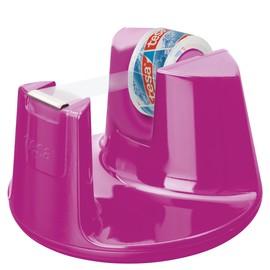 Tischabroller Easy Cut Compact incl. 1Rolle befüllbar bis 19mm x 33m pink Tesa 53823-00000-01 Produktbild