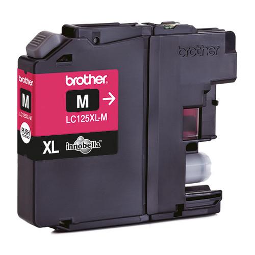 Tintenpatrone für DCP-J4110/MFC-J4410DW 15ml magenta Brother LC-125XLM Produktbild Front View L