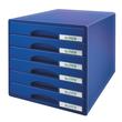 Schubladenboxen Plus 6 Schübe 287x270x363mm blau Kunstoff Leitz 5212-00-35 Produktbild