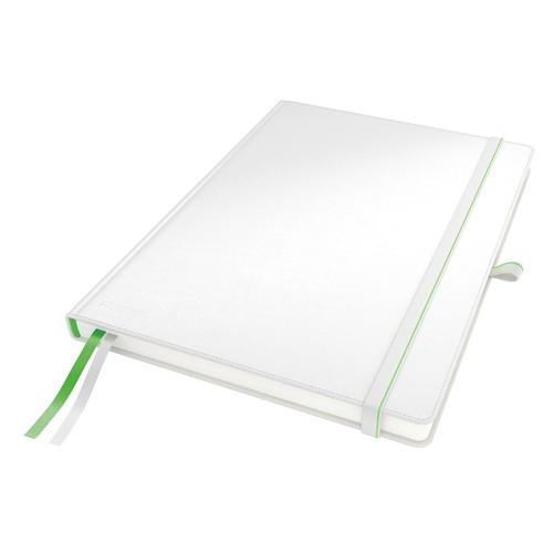 Notizbuch Complete Hardcover kariert 80Blatt A4 weiß Leitz 4471-00-01 Produktbild