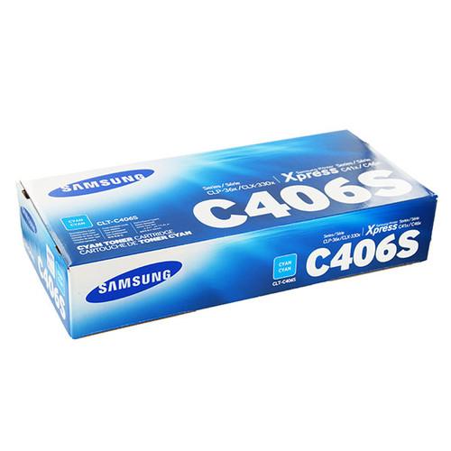 Toner C406S für CLP-360/365 1000Seiten cyan Samsung CLT-C406S/ELS Produktbild Front View L