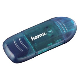 Card Reader USB 2.0 SD/MMC blau Hama 00114730 Produktbild