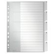 Register Blanko mit Taben A4 überbreit 238x297mm 5-teilig grau Plastik Leitz 1271-00-85 Produktbild