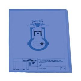 Sichthülle oben + rechts offen A4 120µ blau PP Durable 2337-06 (PACK=100 STÜCK) Produktbild