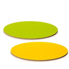 Dekoplatte M oval limette/gelb 300 x 200mm Famulus 007724 Produktbild