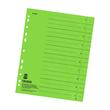 Trennblätter mit abschneidbaren Taben A4 240x300mm grün vollfarbig Karton Falken 80001639 (PACK=100 STÜCK) Produktbild
