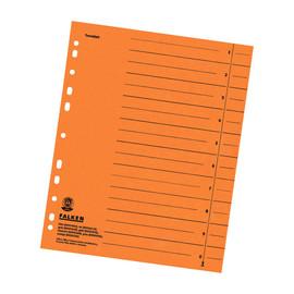 Trennblätter mit abschneidbaren Taben A4 240x300mm orange vollfarbig Karton Falken 80001704 (PACK=100 STÜCK) Produktbild