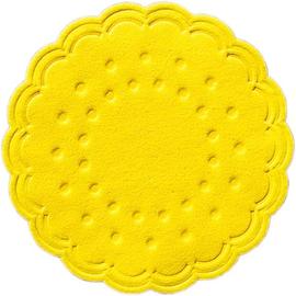 Tassendeckchen Premium ø 7,5cm gelb Tissue Duni 351836 (PACK=25 STÜCK) Produktbild