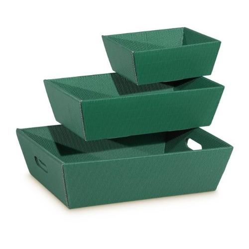 Präsentkarton Modern grün 190 x 140 x 100mm / klein Famulus 007754 Produktbild Front View L