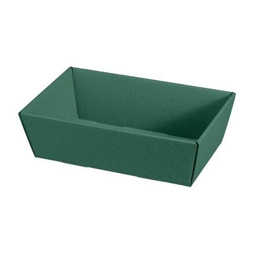 Präsentkarton Modern grün 330 x 190 x 110mm / mittel Famulus 007764 Produktbild Front View L