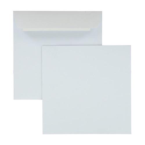 Briefumschlag haftklebend weiß 120g/m2 150x150mm / ohne Fenster / (PACK=100 STÜCK) Produktbild Front View L