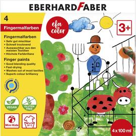 Fingermalfarben EFA Color 4x100ml farbig sortiert auswaschbar Eberhard Faber 578804 Produktbild