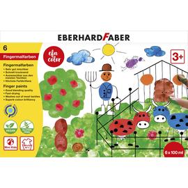Fingermalfarben EFA Color 6x100ml farbig sortiert auswaschbar Eberhard Faber 578806 Produktbild